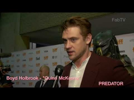 "Boyd Holbrook who plays ""Quinn McKenna""  at the PREDATOR premiere"