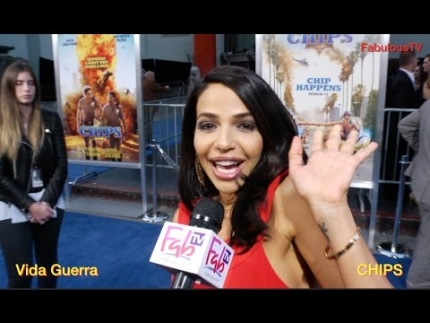Vida Guerra at the 'CHIPS' world premiere on FabulousTV