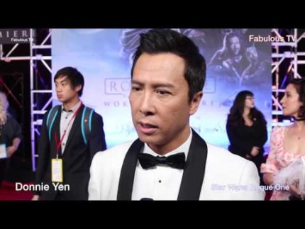 Donnie Yen at Star Wars 'Rogue One' premiere on Fabulous TV