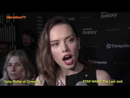 Daisy Ridley at Cinepolis STAR WARS: 'The Last Jedi'  Exclusive on...