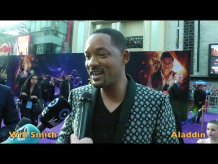 "Will Smith arrives at the ""ALADDIN"" premiere"