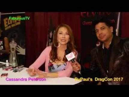 'ELVIRA' Mistress of the Dark   Cassandra Peterson at RuPaul's DragCon 2017 FabulousTV