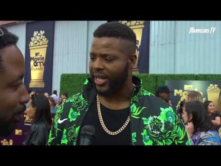 Winston Duke arrives at the  2018 MTV Movie & TV Awards
