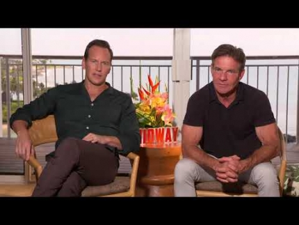 "Patrick Wilson & Dennis Quaid how they shot ""MIDWAY""..."