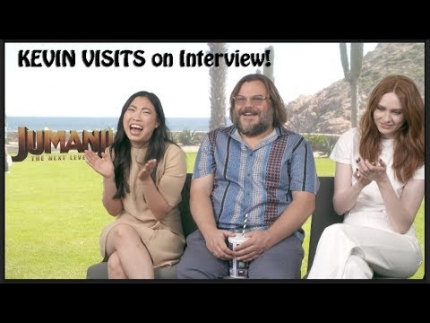 "Awkwafina, Jack Black , Karen Gillan on ""JUMANJI"""