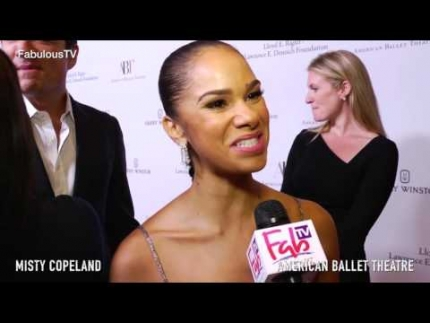 Prima Ballerina 'Misty Copeland' at the 'American Ballet Theatre' premiere on Fabulous TV