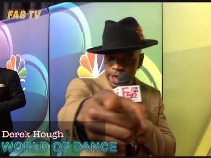 "Derek Hough & NE-YO at the mid-season NBC press tour ""World of Dance"""