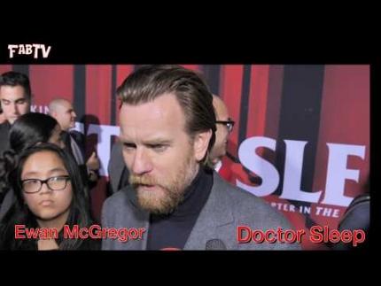 """Ewan McGregor arrives at the """"DOCTOR SLEEP"""" red carpet & premiere"""
