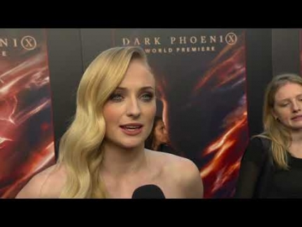 "The beautiful 'Sophie Turner'  thankful at the ""DARK PHOENIX""  WORLD PREMIERE"