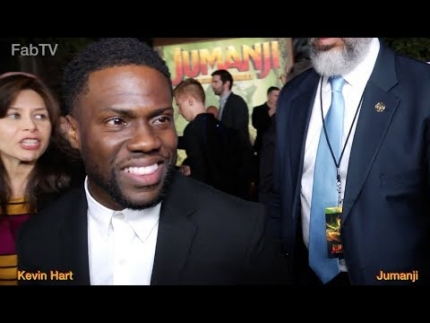 Kevin Hart at the Jumanji World Premiere on FabTV