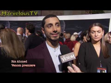 "Riz Ahmed  arrives & signs at the ""Venom""  premiere Los..."