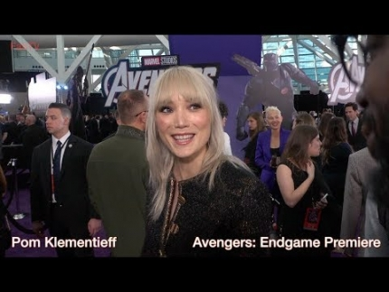"Pom Klementieff at the ""Avengers: Endgame"" premiere"
