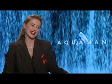 "Amber Heard unveils ""AquaMan""  Interview"
