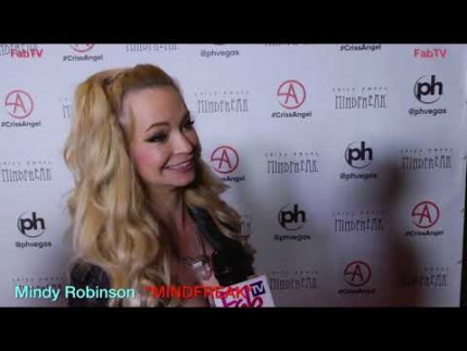 "Mindy Robinson at the""MINDFREAK""  Grand Opening at Planet Hollywood!"