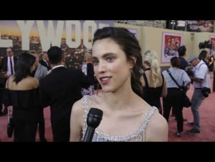 "Actress Margaret Qualley arrives at the ""ONCE UPON A TIME In Hollywood"" premiere"