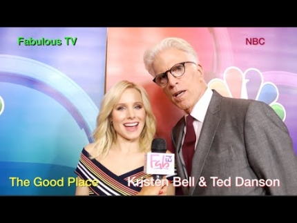 Kristen Bell & Ted Danson talk about 'The Good Place' on FabulousTV