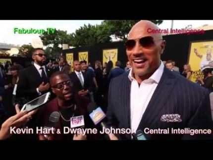 Kevin Hart & Dwayne Johnson at the  \'Central Intelligence\' on Fabulous TV