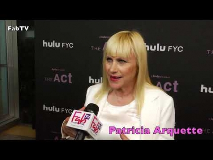 "Patricia Arquette  discusses Hulu's  ""THE act"""