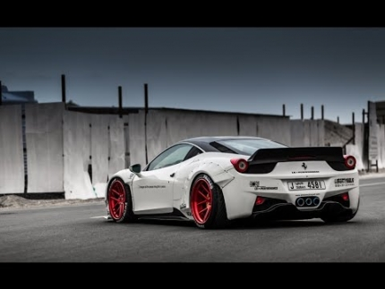 Liberty walk LB Performance. Ferrari 458. Oakley Design