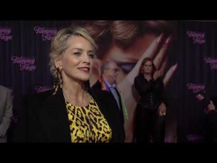 Sharon Stone -  THE EYES OF TAMMY FAYE - New York premiere