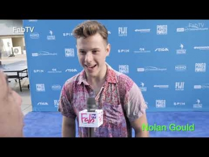 "Modern Family's  Nolan Gould at ""Kershaw's  Ping Pong Challenge 2019"""