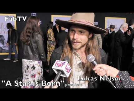 "Lukas Nelson reveals his style at the  ""A Star is Born""  premiere tonight!"