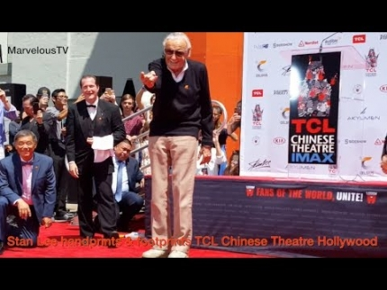 Stan Lee handprints & footprints at the TCL Chinese Theatre in Hollywood on MarvelousTV