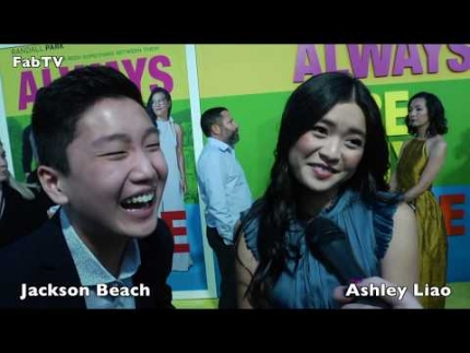 Jackson Beach & Ashley Liao at 'Always Be My Maybe' premiere