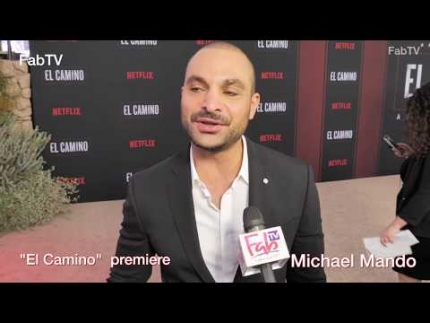 "Michael Mando arrives at the ""El Camino""  World premiere & red carpet"