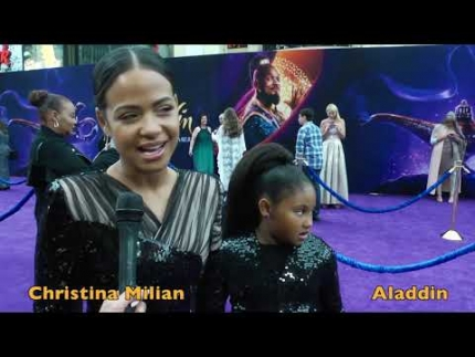 "Christina Milian at the ""ALADDIN""  premiere"