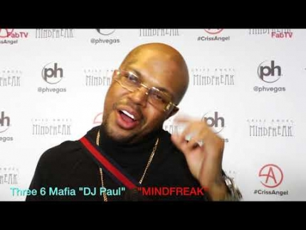Three 6 Mafia  DJ Paul   at the MINDFREAK  Grand Opening at Planet Hollywood!