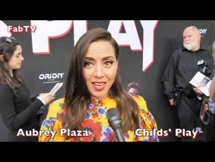 "The amazing  ""Aubrey Plaza"" at ""Child's Play"" premiere"