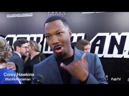 "Corey Hawkins at the ""BlacKkKlansman"" red carpet talks about Spike Lee"