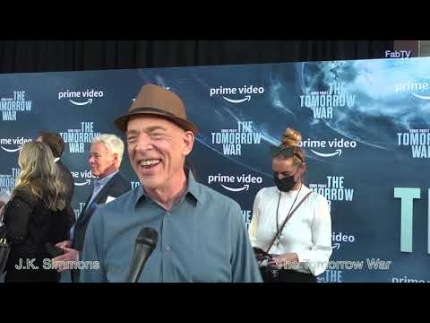 """J.K. Simmons steps out for """"The Tomorrow War"""" premiere"""