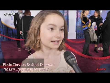 "Pixie Davies & Joel Dawson at  ""Mary Poppins Returns""  World Premiere"