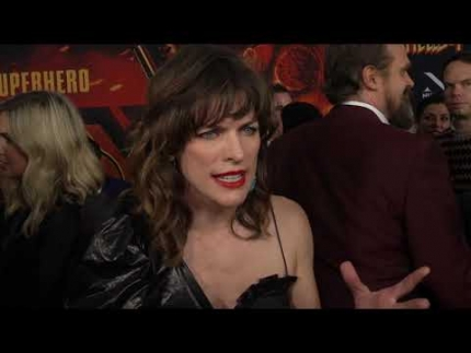 "Milla Jovovich at the ""Hellboy"" New York premiere"