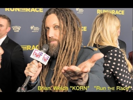 "Brian Welch of  ""KORN""  at the  ""Run the Race""..."