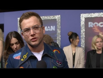 """ROCKETMAN""  premiere with 'Taron Egerton'"