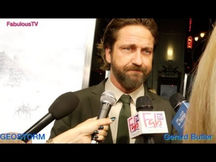 Gerard Butler at 'GEOSTORM' premiere talks about his role on FabulousTV