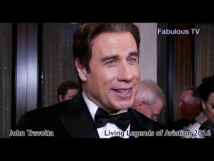 John Travolta at 'Living Legends of Aviation 2016' on...