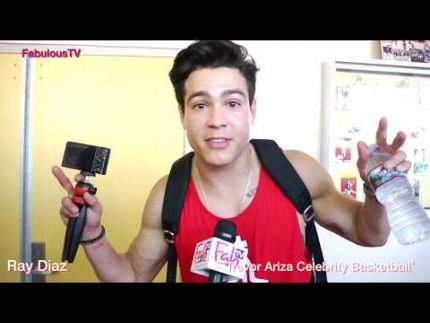 Ray Diaz at Trevor Ariza's Celebrity Basketball Game on FabulousTV