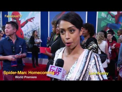 Liza Koshy at Spider-Man: Homecoming