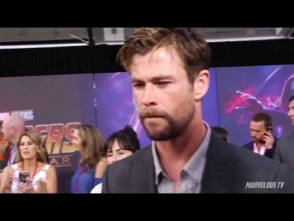Chris Hemsworth Avengers: Infinity War  WORLD PREMIERE
