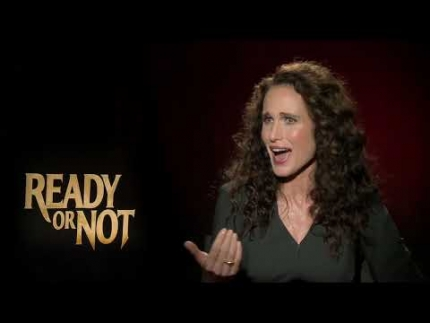 "Andie Macdowell breaks it down for ""Ready or Not"""