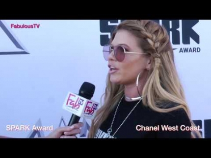 Chanel West Coast at the 'SPARK AWARD' rooftop party on FabulousTV