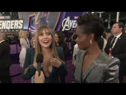 "Elizabeth Olsen and Letitia Wright   ""Scarlet Witch and Shuri"" Avengers: Endgame"