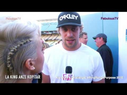 LA KINGS player Anže Kopitar at Kershaw s Challenge  #PingPong4Purpose 2016 on Fabulous TV