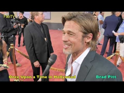 "Brad Pitt reveals @  ""Once Upon a Time in Hollywood""..."