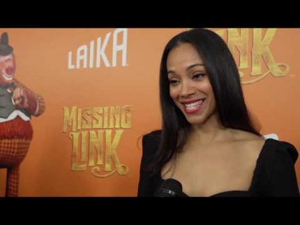 """Missing Link"" premiere Interview with  Zoe Saldana"