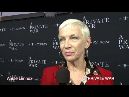 "Annie Lennox at the ""A PRIVATE WAR""  premiere"